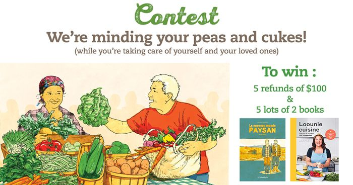 Contest : we're minding your peas and cukes